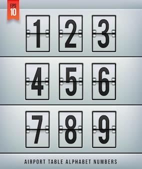Alfabeto della tabella degli arrivi in aeroporto. illlustration.