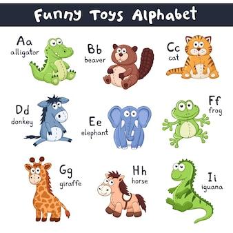 Alfabeto di animali del fumetto
