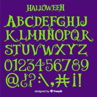 Alfabeto di halloween vintage