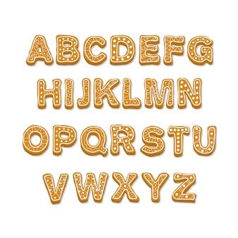 Alfabeto di natale dell'illustrazione del bastoncino di zucchero