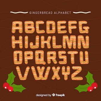 Alfabeto di pan di zenzero