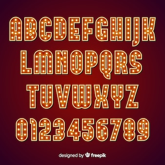 Alfabeto lampadina teatro