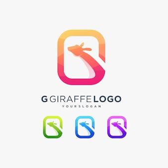 Alfabeto lettera g giraffa carino