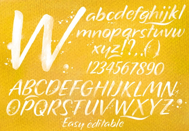 Alfabeto moderno arancione