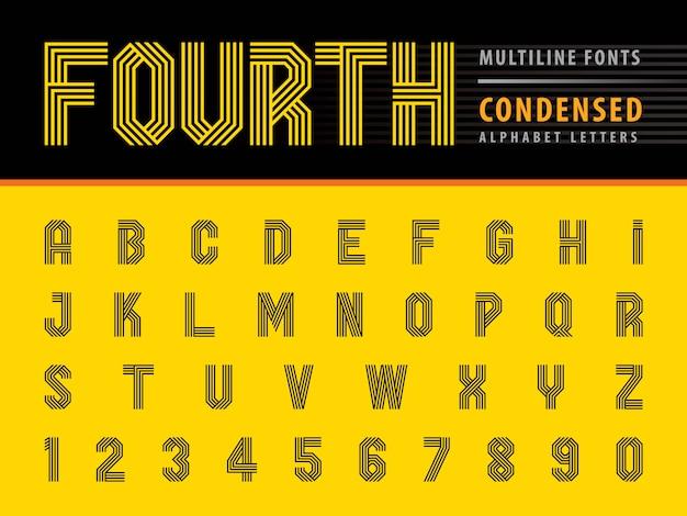 Alfabeto moderno lettere e numeri