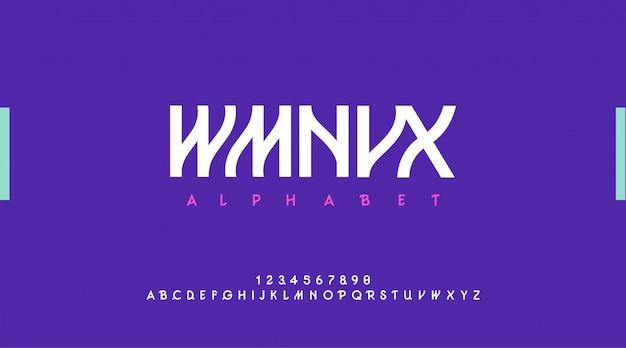 Alfabeto moderno urbano. carattere tipografia