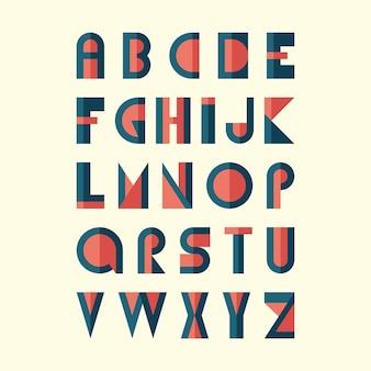 Alfabeto moderno vettore piatto.