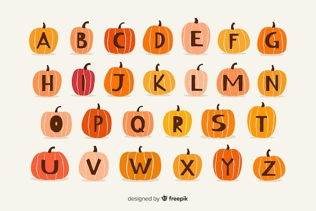 Alfabeto mostro di halloween