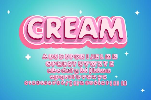 Alfabeto rosa alla moda di dolci. stile per poster di festa