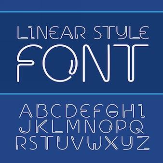 Alfabeto semplice e minimalista in stile linea
