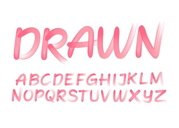 Alfabeto tratto di pennello