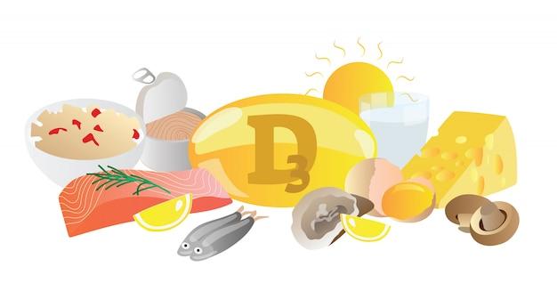 Alimenti a base di vitamina d3