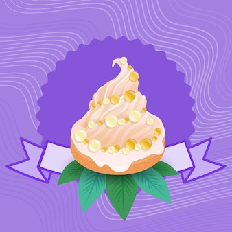 Alimento delizioso del dolce variopinto di cupcake del dolce della torta variopinta
