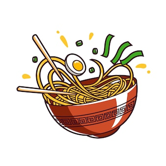 Alimento dell'asia della ciotola della tagliatella