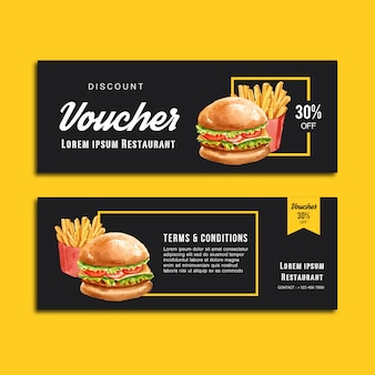 Alimento di antipasto del menu di ordine di sconto del buono del gif del fast food