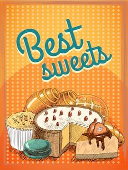 Alimento di pane dolce della torta del dolce della pasta sfoglia