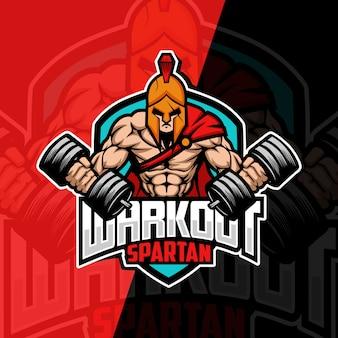 Allenamento spartano mascotte esport