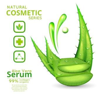 Aloe vera cosmetics concept