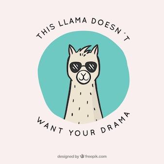 Alpaca carino con citazione