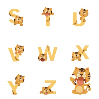 Alphabet sz tiger