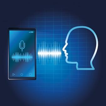 Altoparlante per riconoscimento vocale per smartphone
