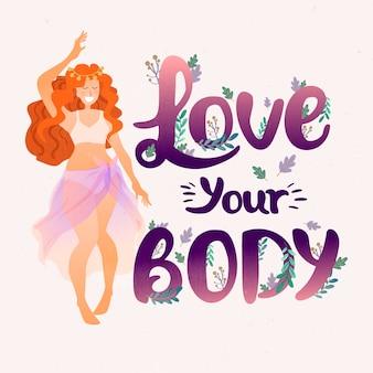 Ama il tuo messaggio femminile sul tuo corpo