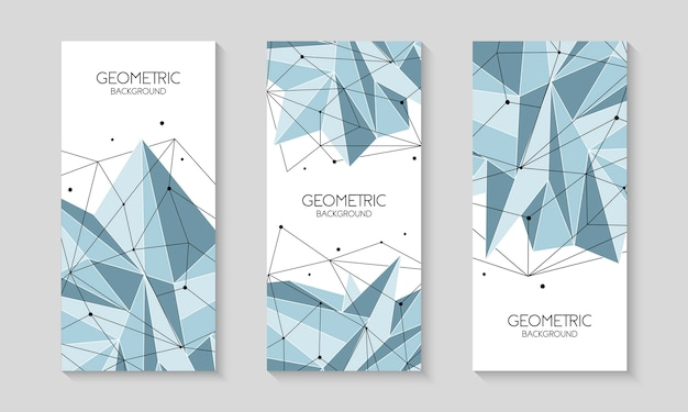 Ambiti di provenienza futuristici astratti poligonali, poli basso