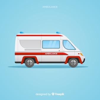 Ambulanza in design piatto