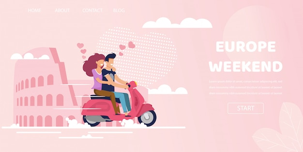 Ami le coppie in viaggio di fine settimana di roma italia europa