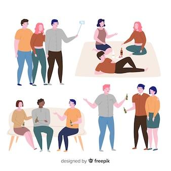 Amici che passano insieme il tempo insieme