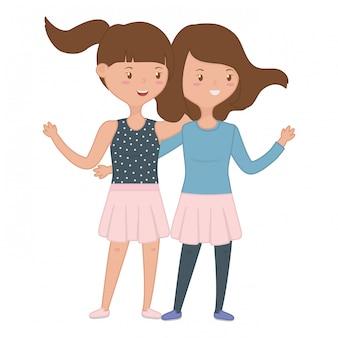 Amici di ragazze adolescenti