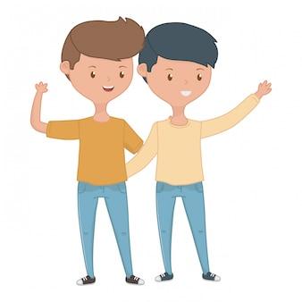Amici di ragazzi adolescenti