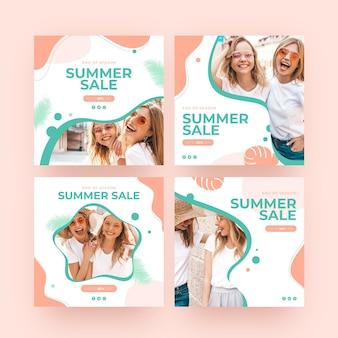 Amici estivi della posta del instagram di vendita di estate