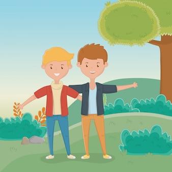 Amicizia del design dei cartoni animati dei ragazzi