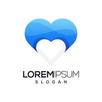 Amo il logo colorato di ispirazione