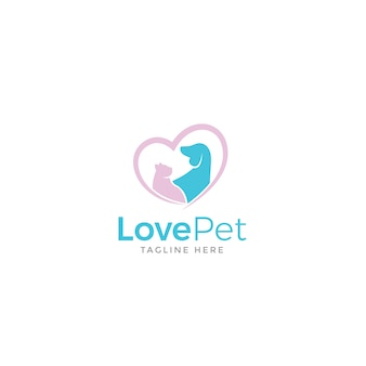 Amo il logo dell'animale domestico