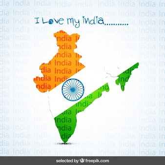 Amo il mio background india con la mappa