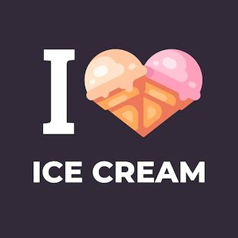 Amo l'illustrazione del gelato.