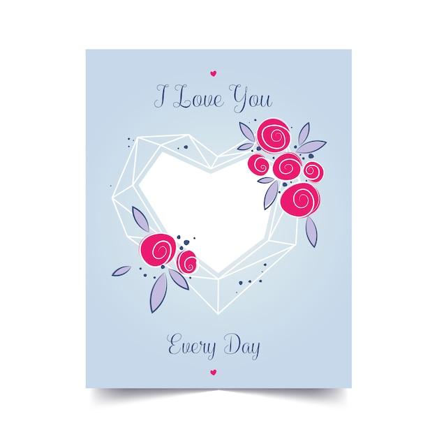 Amo la carta di giorno di san valentino per il design della decorazione.