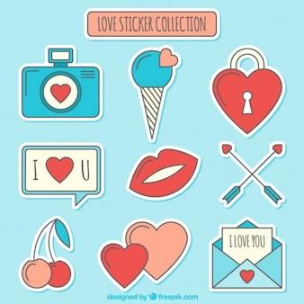 Amore adesivi collezione design piatto