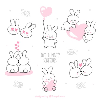 Amore bunnies schizzi