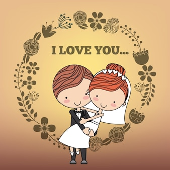 Amore card design, grafica vettoriale illustrazione eps10