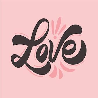 Amore carino matrimonio lettering concetto