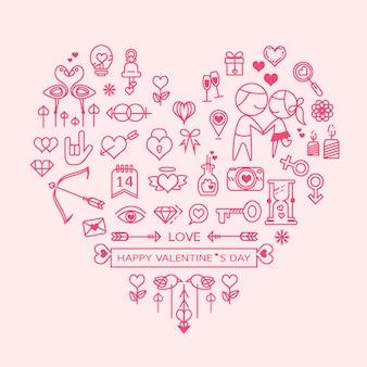 Amore cuore vettoriale