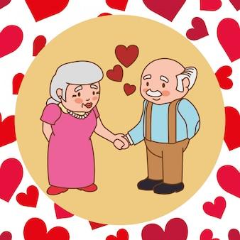 Amore e design di icone romantiche