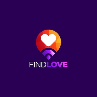 Amore logo design illustrazione vettoriale