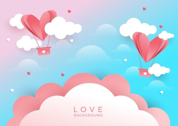 Amore o san valentino sullo sfondo