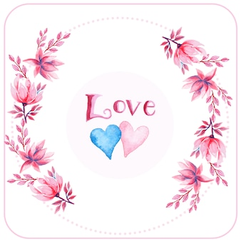 Amore sfondo floreale