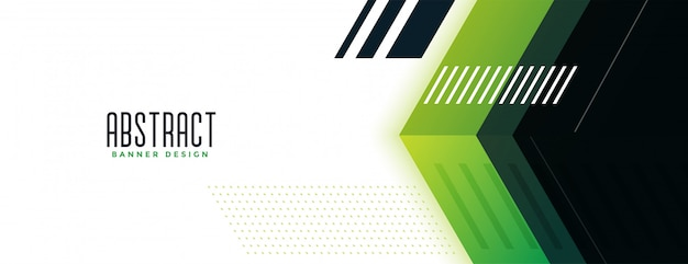 Ampio banner in stile moderno verde geometrico