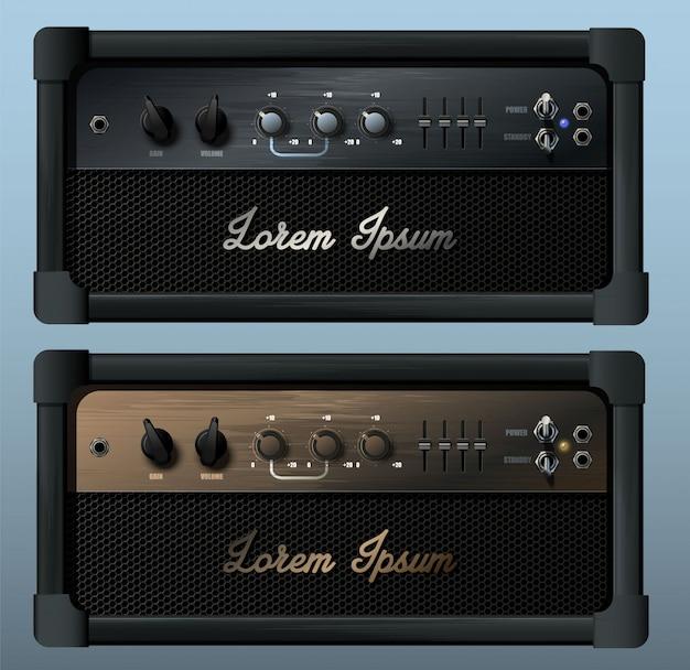 Amplificatore combo per chitarra realistico.